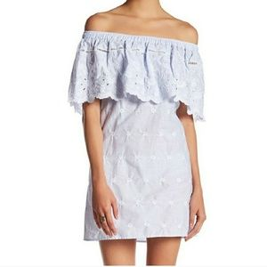 Romeo and Juliet Couture Off Shoulder Eyelet Dress